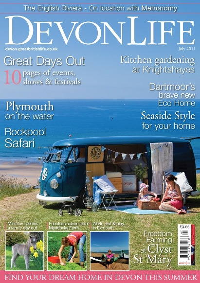 Devon Life cover – Camper van at Bigbury ~ Sarah Lauren Photography