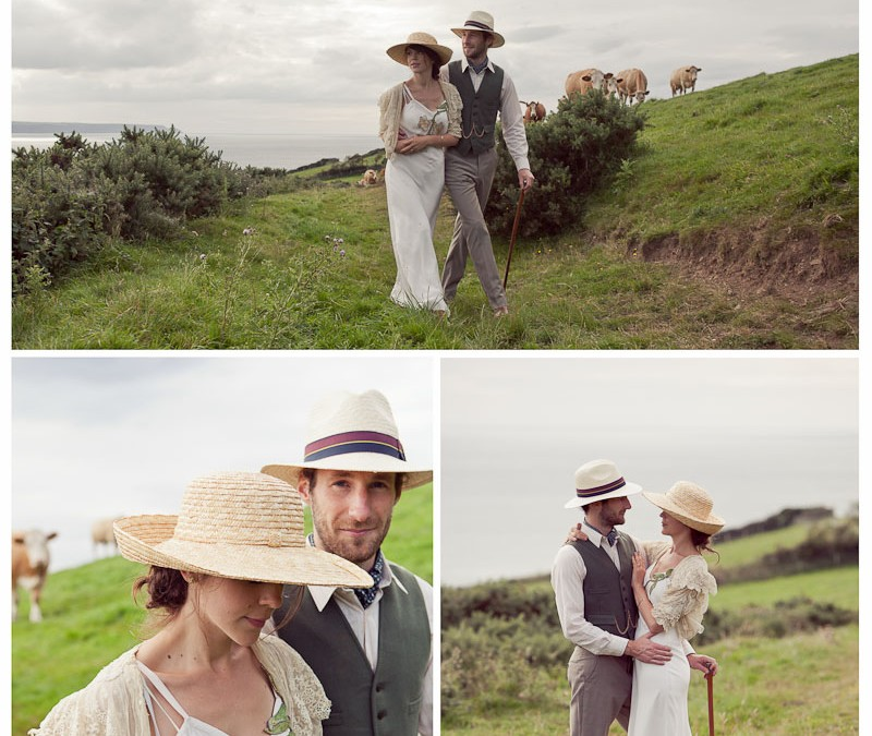 emily & rodney's 1920s pre-wedding shoot