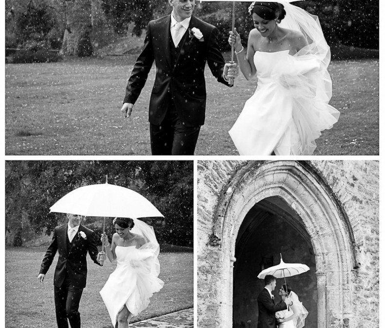 rain anyone? Juliet & Dan's Dartington Hall wedding