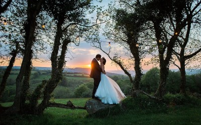 Kate & Tristan's Devon tipi wedding at Burnicombe Farm