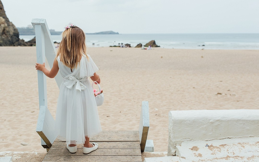Will & Kyrie's Lusty Glaze Beach Wedding